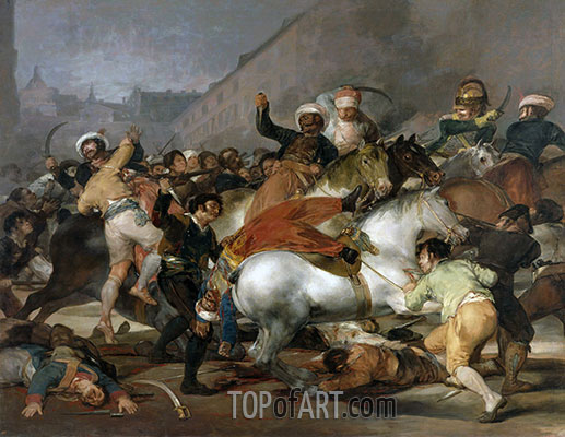 The 2nd of May 1808 in Madrid, 1814 | Goya | Painting Reproduction