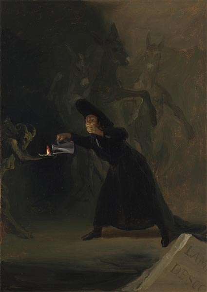 A Scene from El Hechizado por Fuerza (The Forcibly Bewitched), 1798 | Goya | Painting Reproduction