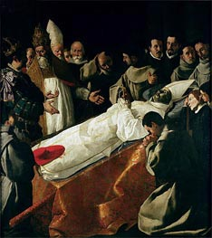The Exhibition of the Body of St. Bonaventure | Zurbaran | Gemälde Reproduktion