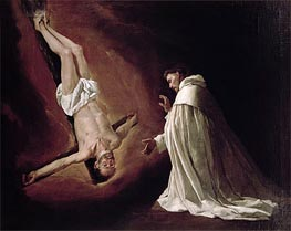 Appearance of St. Peter to St. Peter Nolasco, 1629 by Zurbaran | Painting Reproduction