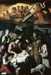Adoration of the Shepherds, 1638 von Zurbaran | Gemälde-Reproduktion