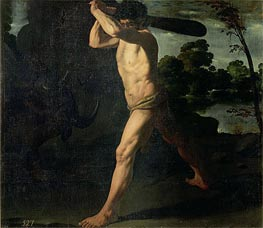 Hercules and the Cretan Bull, 1634 von Zurbaran | Gemälde-Reproduktion
