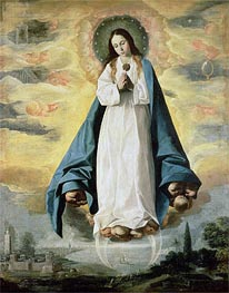 The Immaculate Conception, Undated von Zurbaran | Gemälde-Reproduktion