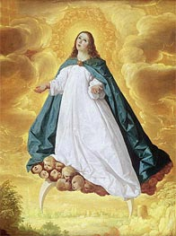 The Immaculate Conception, c.1628/30 by Zurbaran | Painting Reproduction