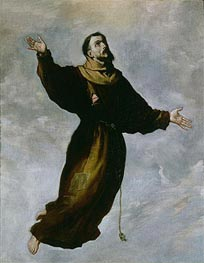 Levitation of St. Francis | Zurbaran | Painting Reproduction
