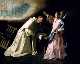 Vision of St. Peter Nolasco | Zurbaran | Painting Reproduction