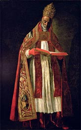 St. Gregory the Great, Undated by Zurbaran | Painting Reproduction