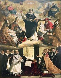 The Apotheosis of St. Thomas Aquinas, 1631 by Zurbaran | Painting Reproduction