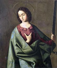 St. Euphemia, Undated by Zurbaran | Painting Reproduction