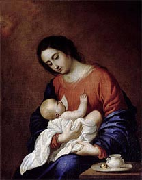 Virgin and Child, 1658 von Zurbaran | Gemälde-Reproduktion