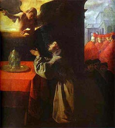 St Bonaventura in Prayer | Zurbaran | Gemälde Reproduktion