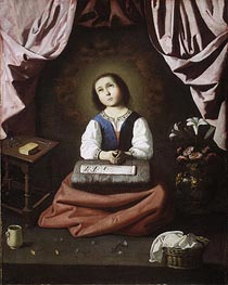 The Young Virgin, c.1632/33 by Zurbaran | Painting Reproduction