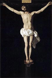 Crucified Jesus, c.1630/40 by Zurbaran | Painting Reproduction