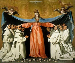 The Virgin of the Caves, c.1655 by Zurbaran | Painting Reproduction