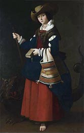 Saint Margaret of Antioch, c.1630/34 by Zurbaran | Painting Reproduction
