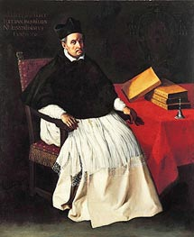 Portrait of Fray Diego Deza, c.1630 by Zurbaran | Painting Reproduction