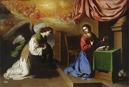 The Annunciation, 1650 by Zurbaran | Painting Reproduction
