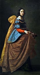 Saint Elisabeth of Portugal, c.1635 by Zurbaran | Painting Reproduction