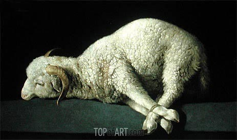 Agnus Dei, c.1635/40 | Zurbaran | Painting Reproduction