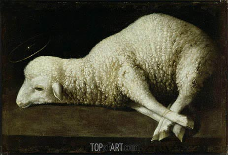 Agnus Dei, c.1636/40 | Zurbaran | Painting Reproduction