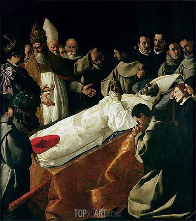 The Exhibition of the Body of St. Bonaventure, a.1627 | Zurbaran | Painting Reproduction