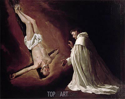 Appearance of St. Peter to St. Peter Nolasco, 1629 | Zurbaran | Painting Reproduction