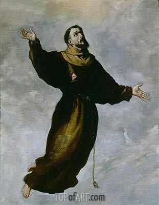 Levitation of St. Francis, Undated | Zurbaran | Painting Reproduction