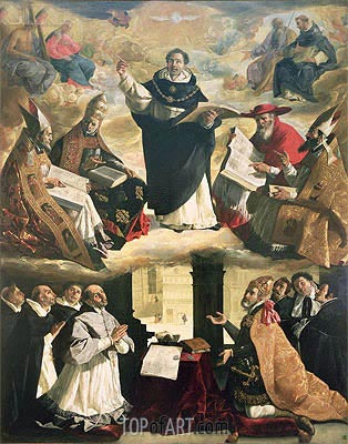 The Apotheosis of St. Thomas Aquinas, 1631 | Zurbaran | Painting Reproduction