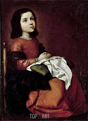 The Childhood of the Virgin, c.1660 | Zurbaran | Painting Reproduction