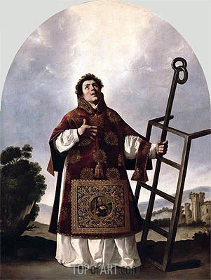 St Lawrence, 1636 | Zurbaran | Painting Reproduction