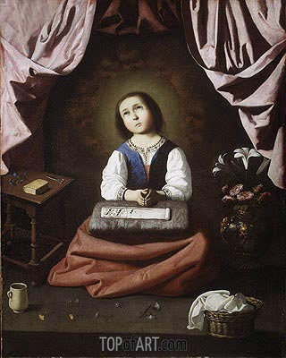 The Young Virgin, c.1632/33   Zurbaran   Painting Reproduction