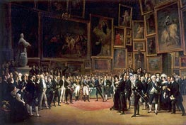 Charles X Distributing Prizes after the Salon of 1824, 1827 by François-Joseph Heim | Painting Reproduction