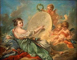 Allegory of Painting | Boucher | Gemälde Reproduktion