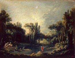 Landscape with a Pond | Boucher | Painting Reproduction