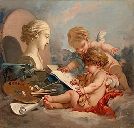 Cupids Allegory of Painting | Boucher | Painting Reproduction