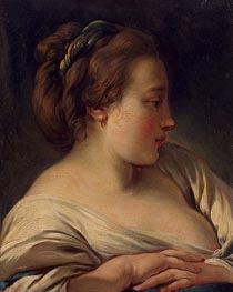 Head of a Young Girl | Boucher | Painting Reproduction