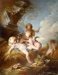 The Cherub Harvesters | Boucher | Painting Reproduction