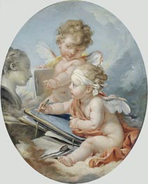 Drawing, undated by Boucher | Painting Reproduction