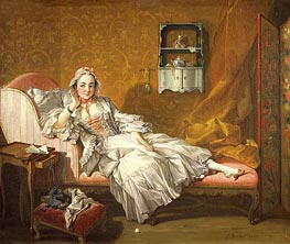 A Lady on Her Day Bed, 1743 by Boucher | Painting Reproduction