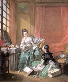 The Milliner, 1746 by Boucher | Painting Reproduction