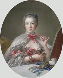 Jeanne-Antoinette Poisson, Marquise de Pompadour, 1758 by Boucher | Painting Reproduction