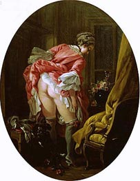 The Raised Skirt | Boucher | Painting Reproduction