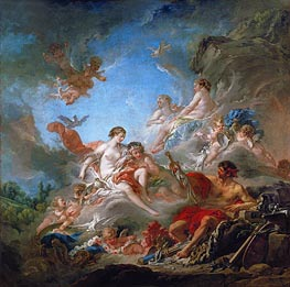 Vulcan Presents to Venus the Armour for Aeneas, 1757 by Boucher | Painting Reproduction