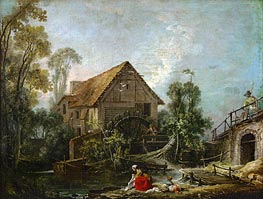 The Mill, 1751 von Boucher | Gemälde-Reproduktion