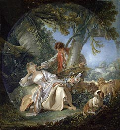 The Interrupted Sleep, 1750 by Boucher | Painting Reproduction
