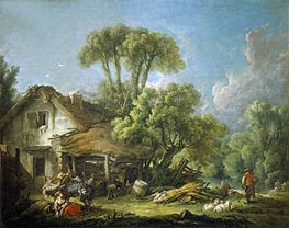 Morning, 1764 von Boucher | Gemälde-Reproduktion