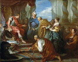 Joseph Presenting His Father and Brothers to the Pharaoh, c.1723 von Boucher | Gemälde-Reproduktion