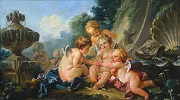 Cupids in Conspiracy, c.1740/50 von Boucher | Gemälde-Reproduktion