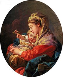 Virgin and Child, c.1765/70 von Boucher | Gemälde-Reproduktion