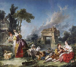 The Fountain of Love | Boucher | Gemälde-Reproduktion